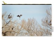 Great Blue Heron Nest Building 2 Panorama View Carry-all Pouch