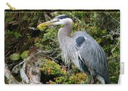 Great Blue Heron On Log Carry-all Pouch