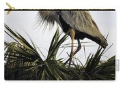 Great Blue Heron On Palm Carry-all Pouch