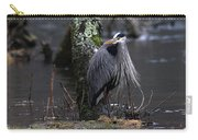 Great Blue Heron On The Clinch River Carry-all Pouch