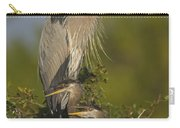 Great Blue Heron With Chicks Florida Carry-all Pouch