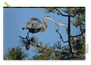 Great Blue Heron With Nest Material Carry-all Pouch