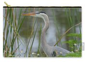 Great Blue In The Reeds Carry-all Pouch