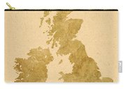 Great Britain Map Carry-all Pouch