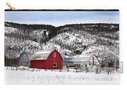 Great Canadian Red Barn In Winter Carry-all Pouch