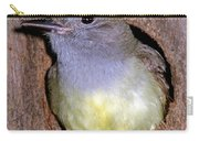 Great Crested Flycatcher In Nest Cavity Carry-all Pouch