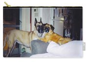 Great Dane And Australian Shepardd Carry-all Pouch