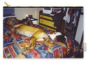 Great Dane And Cat Carry-all Pouch
