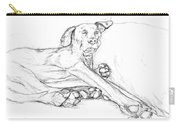 Great Dane Dog Sketch Bella Carry-all Pouch