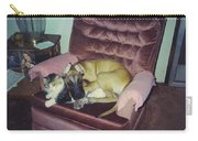 Great Dane Pup And Cat Carry-all Pouch