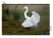 Great Egret Alighting Carry-all Pouch