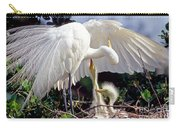 Great Egret Ardea Alba In Nest Carry-all Pouch