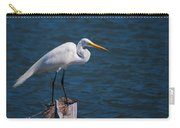 Great Egret At His Post Carry-all Pouch