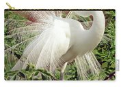 Great Egret Courtship Display Carry-all Pouch