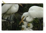 Great Egret Family 2 Carry-all Pouch