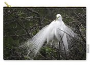 Great Egret In Tree Carry-all Pouch