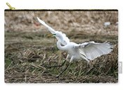 Great Egret Landing Carry-all Pouch