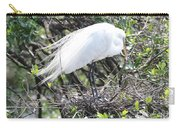 Great Egret On Nest Carry-all Pouch