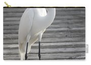 Great Egret On The Pier Carry-all Pouch