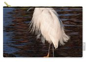 Great Egret Walking On Water Carry-all Pouch