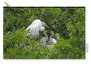 Great Egret With Chicks On The Nest Carry-all Pouch