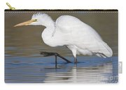 Great Egret With Leg Up Carry-all Pouch