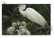 Great Egret With Young Carry-all Pouch