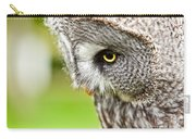 Great Gray Owl Close Up Carry-all Pouch
