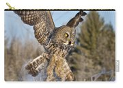 Great Gray Owl Pictures 767 Carry-all Pouch