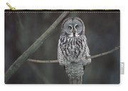 Great Gray Owl Portrait North America Carry-all Pouch