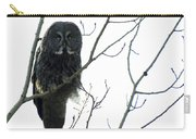 Great Grey Owl On The Lookout Carry-all Pouch