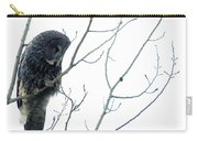 Great Grey Owl On Watch Carry-all Pouch