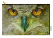 Great Horned Eyes Fractal Carry-all Pouch