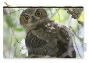 Great Horned Owl Fledgling  Carry-all Pouch