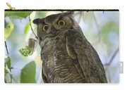 Great Horned Owl On A Branch  Carry-all Pouch