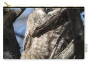 Great Horned Owlet Finishes Lunch Carry-all Pouch