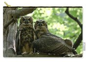 Great Horned Owls Carry-all Pouch