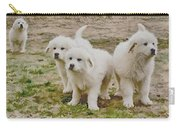 Great Pyranese Puppies Carry-all Pouch by Bonnie Willis