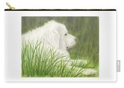 Great Pyrenees Dog In Grass Animal Pets Canine Art Carry-all Pouch