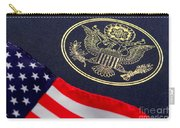 Great Seal Of The United States And American Flag Carry-all Pouch