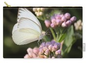 Great Southern White Butterfly On Pink Flowers Carry-all Pouch