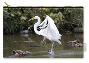 Great White Egret And Turtle Friends1 Carry-all Pouch