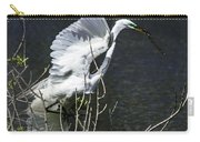 Great White Egret Building A Nest V Carry-all Pouch