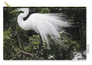 Great White Egret Building A Nest Vii Carry-all Pouch