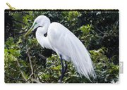 Great White Egret Building A Nest Viii Carry-all Pouch