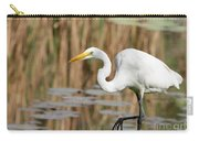 Great White Egret By The River Carry-all Pouch by Sabrina L Ryan