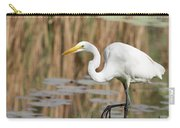 Great White Egret By The River Too Carry-all Pouch
