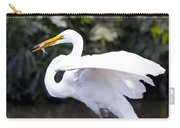 Great White Egret Eating Fish 1 Carry-all Pouch