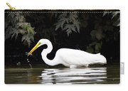 Great White Egret Eating Fish 2 Carry-all Pouch