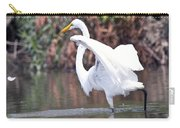Great White Egret Fishing 1 Carry-all Pouch